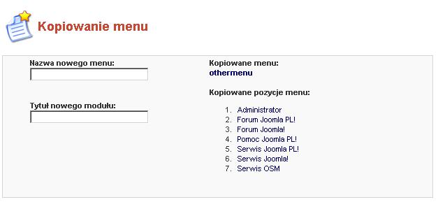 Kopiowanie menu