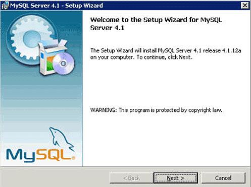 Instalacja MySQL - krok 1