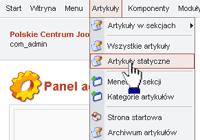 Wybierz w menu pozycję Materiał statyczny