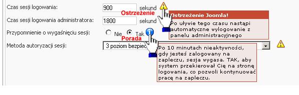 Pomoc kontekstowa w edytorze konfiguracji