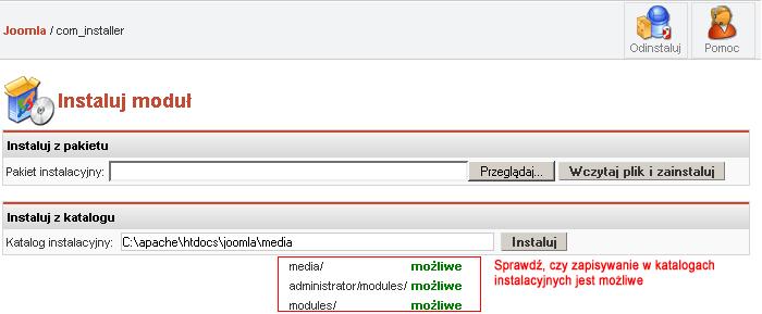 Instalowanie modułów